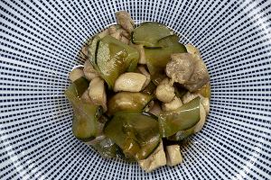 Ensalada de pollo y pepino