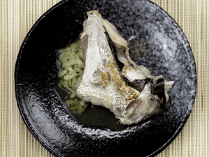 Oreja de pescado blanco a la plancha