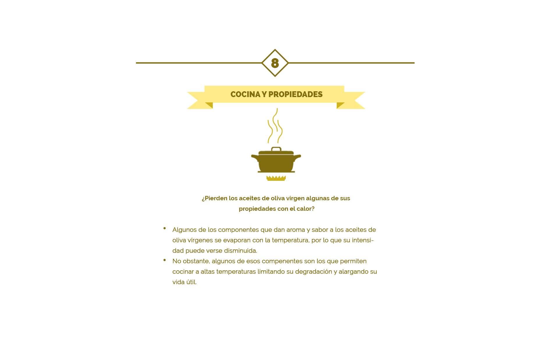 aroma y sabor acite de oliva en cocina
