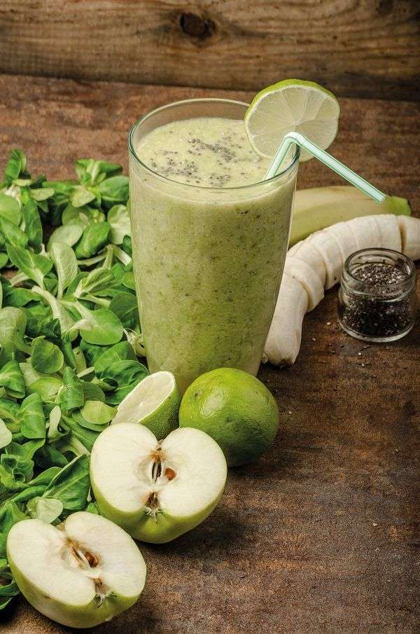 Smoothie de curry y aceite de oliva