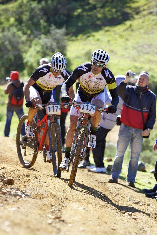 Ciclistas de montaña