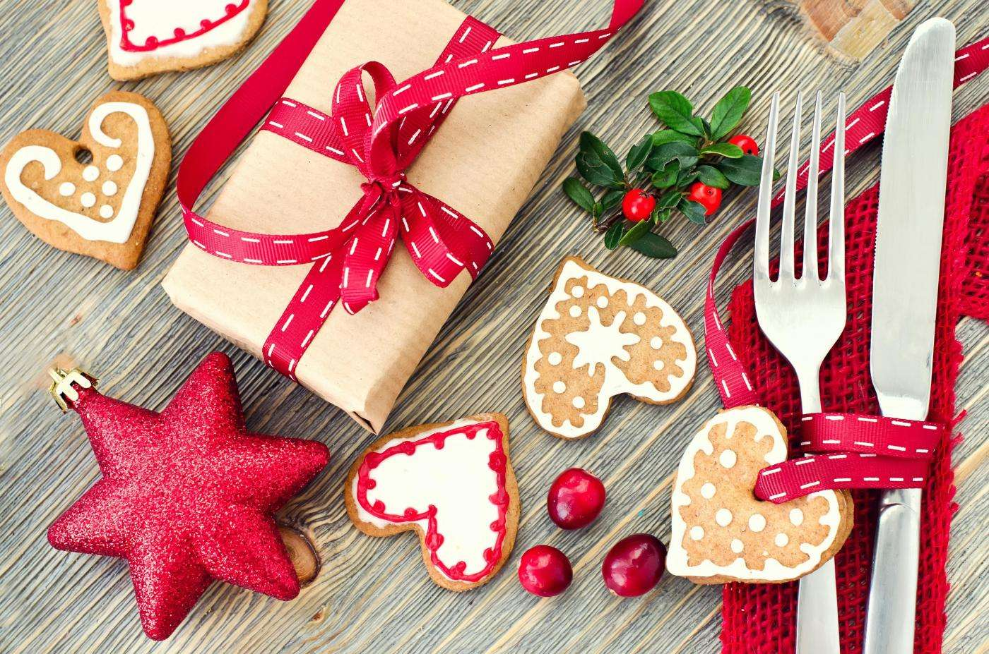 Decoración para la mesa en Navidad