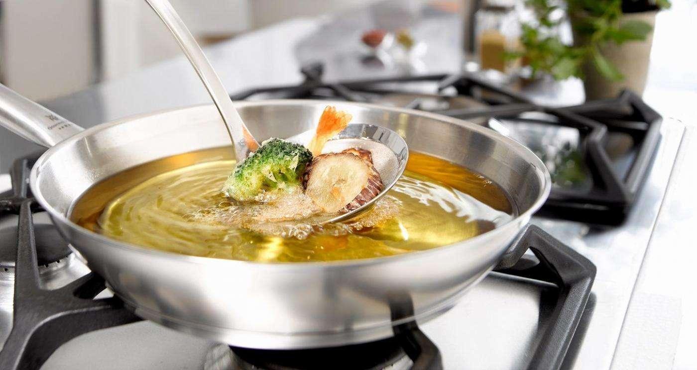 Fritura de alimentos con aceites de oliva