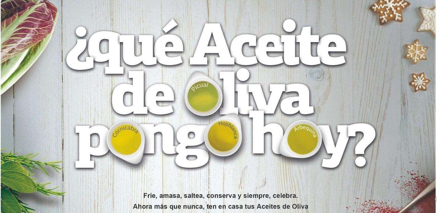 Imagen de la campaña de promoción de los Aceites de Oliva