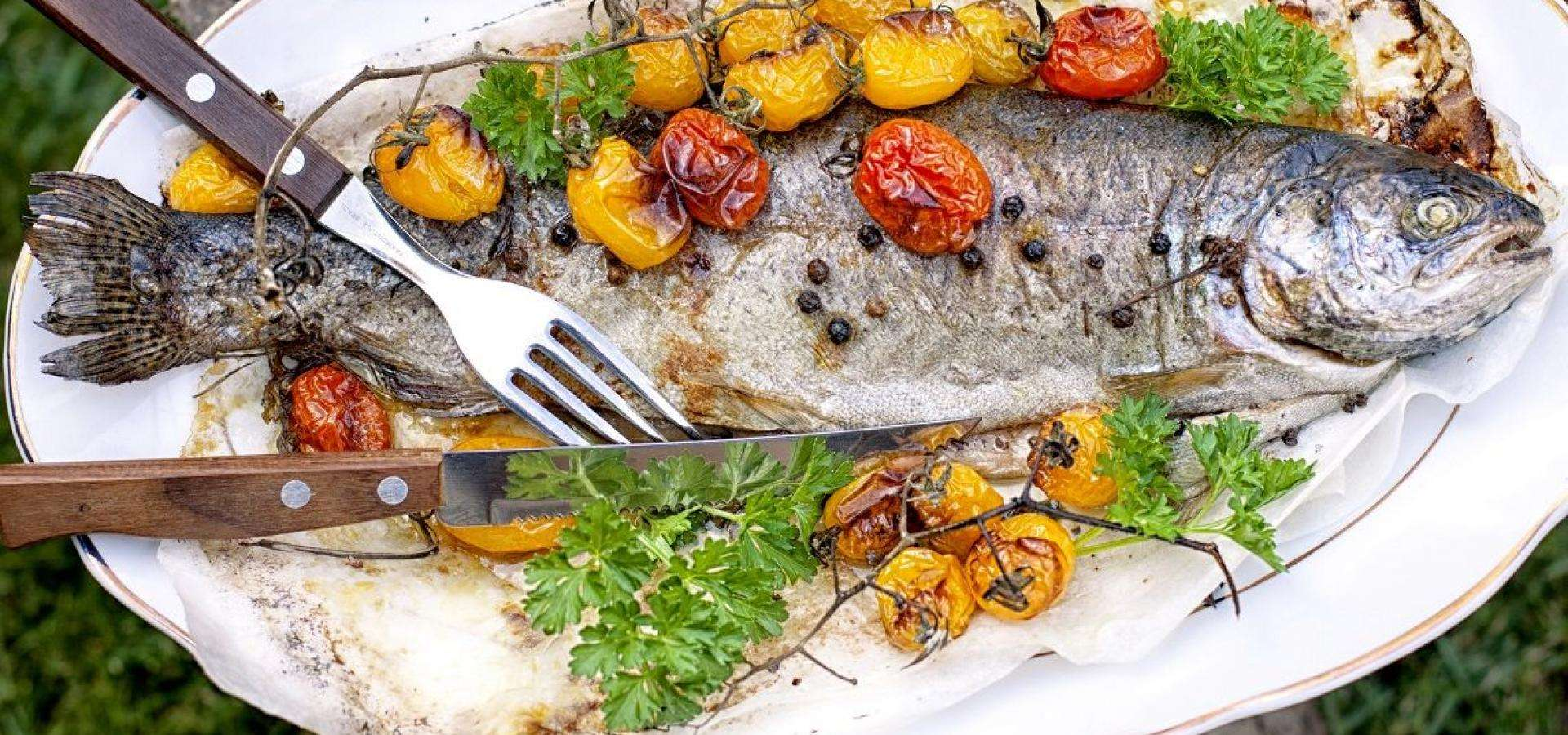 Basque poached bass recipe
