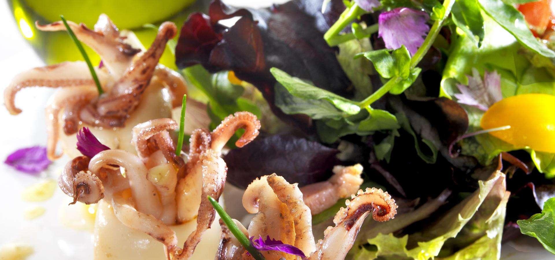 ensalada de calamarcitos
