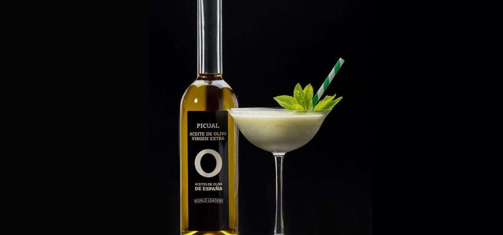 Daiquiri de aceite de oliva virgen extra de la variedad picual y plátano