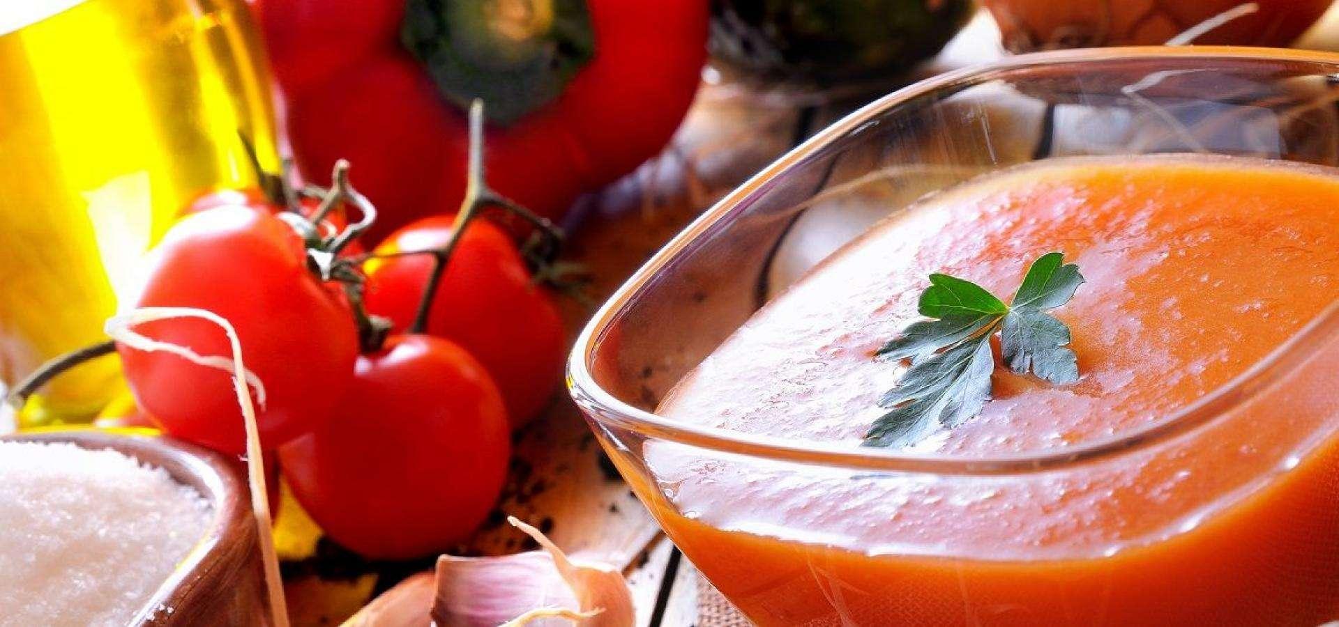 Receta de gazpacho con pepino