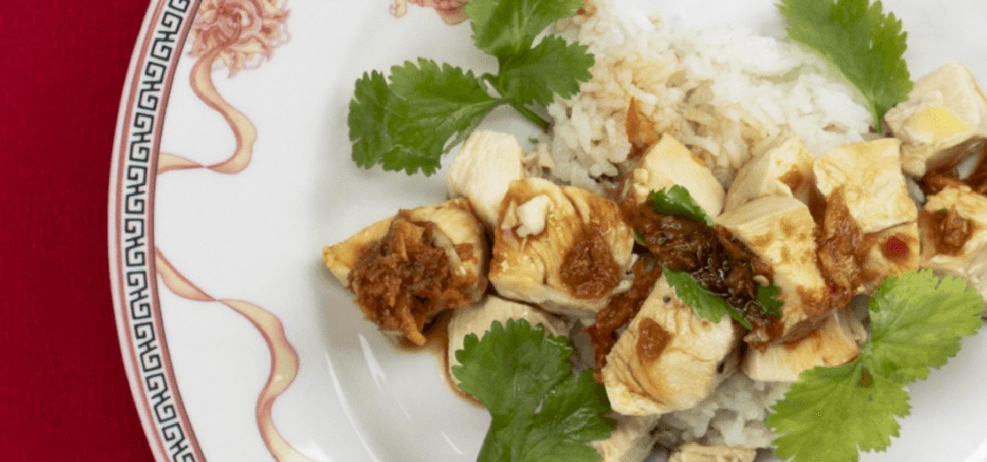 Receta de Pollo con arroz Hainan