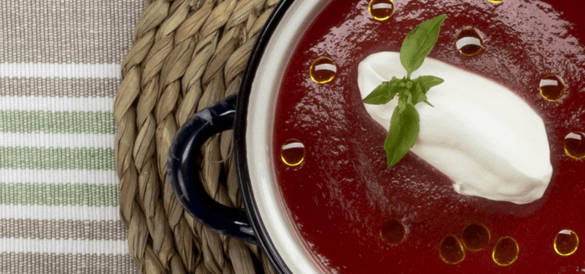 Receta de sopa de tomates asados