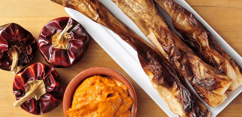 Receta de variación sobre salsa romesco