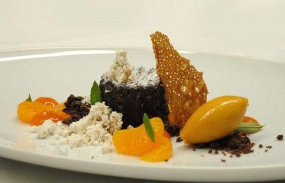 Chocolate con aceites de oliva de España y mandarina