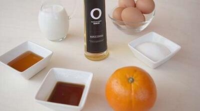 Ingredientes para hacer helado de aceite de oliva