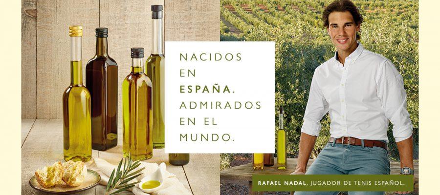 Aceites de Oliva de España y Rafa Nadal: nacidos en España, admirados en el mundo