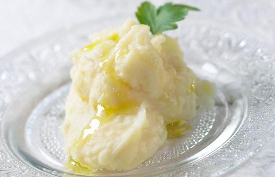 Puré de patatas con aceite de oliva