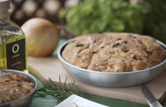 Pan con aceites de oliva