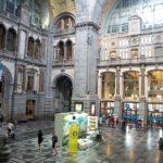 Mes de los Aceites de Oliva en la Estación Central de Amberes (Bélgica)