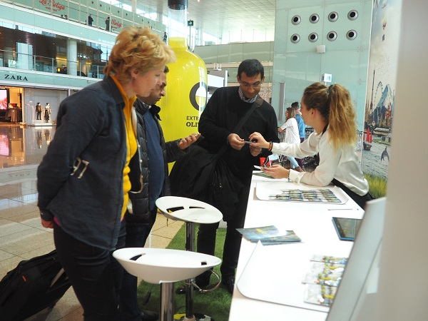Los viajeros recibieron información sobre los aceites de oliva