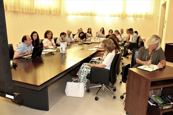 Reunión informativa sobre el desarrollo del proyecto celebrada en el Rectorado de la Universidad de Córdoba