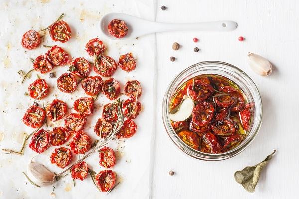Tomates cherrys asados