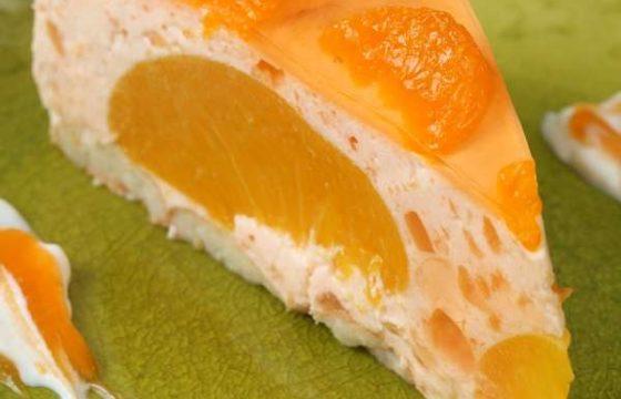 Tarta de queso y mandarina
