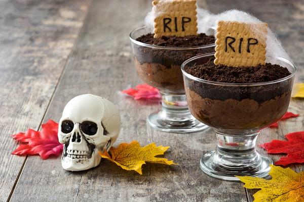 Mousse de chocolate para Halloween