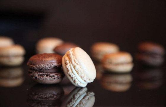 Macarons con chocolate y aceite de oliva de Maricú