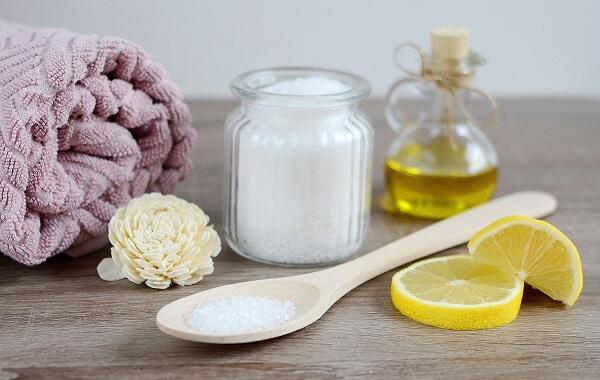Exfoliante de sal limon y aceite de oliva