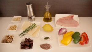 Ingredientes para receta de rodaballo al chocolate